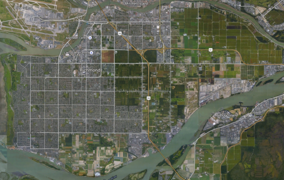 Richmond BC Aerial View